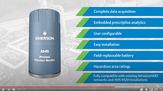 Ideal for deployment across your plant or enterprise, the AMS Wireless Vibration Monitor offers the following benefits: